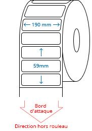 190 mm x 59 mm Étiquettes à rouleaux