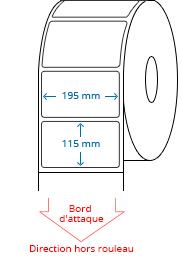 195 mm x 115 mm Étiquettes à rouleaux