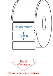 200 mm x 76 mm Étiquettes à rouleaux