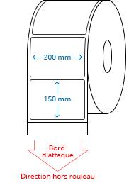 200 mm x 150 mm Étiquettes à rouleaux