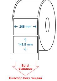 205 mm x 143.5 mm Étiquettes à rouleaux