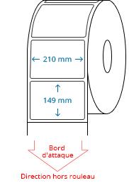 210 mm x 149 mm Étiquettes à rouleaux