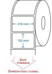 216 mm x 152 mm Étiquettes à rouleaux