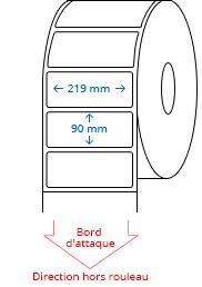 219 mm x 90 mm Étiquettes à rouleaux