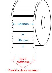 220 mm x 45 mm Étiquettes à rouleaux