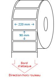 220 mm x 90 mm Étiquettes à rouleaux