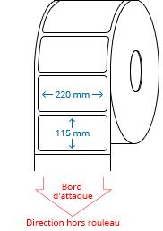 220 mm x 115 mm Étiquettes à rouleaux