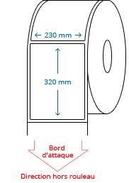 230 mm x 320 mm Étiquettes à rouleaux