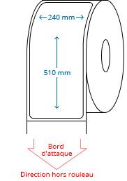 240 mm x 510 mm Étiquettes à rouleaux