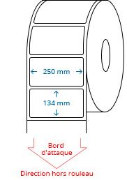 250 mm x 134 mm Étiquettes à rouleaux