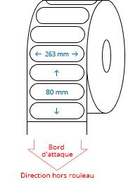 263 mm x 80 mm Étiquettes à rouleaux
