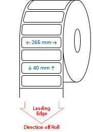 265 mm x 40 mm Étiquettes à rouleaux