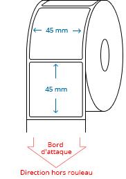 45 mm x 45 mm Étiquettes à rouleaux