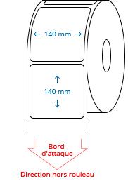 140 mm x 140 mm Étiquettes à rouleaux