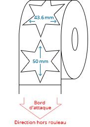 43.6 mm x 50 mm Étiquettes à rouleaux