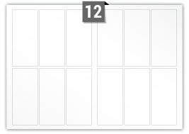 12 Rectangle Labels per SRA3 sheet
