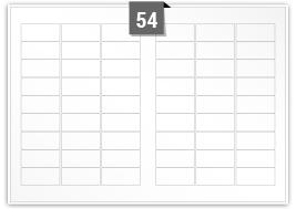 54 Rectangle Labels per SRA3 sheet -  63.5 mm x 29.6 mm
