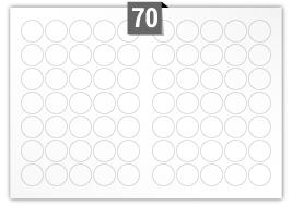 70 Circular Labels per SRA3 sheet