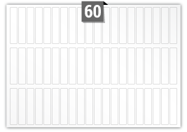 60 Rectangle Labels per SRA3 sheet