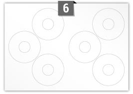 6 Circular Labels per SRA3 sheet