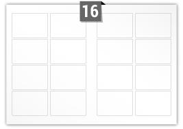 16 étiquettes  rectangulaires par feuille -  97 mm x 69 mm