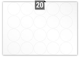 20 Circular Labels per SRA3 sheet
