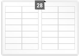 28 Rectangle Labels per SRA3 sheet