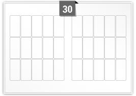 30 Rectangle Labels per SRA3 sheet - 37 mm x 76 mm