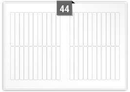 44 Rectangle Labels per SRA3 sheet