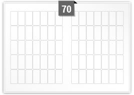 70 Rectangle Labels per SRA3 sheet
