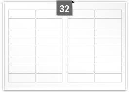 32 Rectangle Labels per SRA3 sheet
