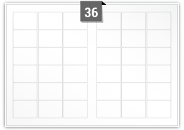 36 Rectangle Labels per SRA3 sheet