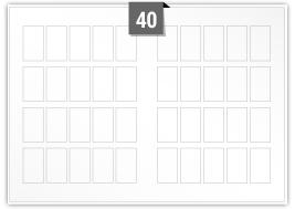40 Rectangle Labels per SRA3 Sheet
