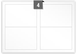 4 Rectangle Labels per SRA3 sheet - 199.6 mm x 143.5 mm