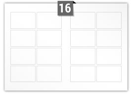 16 étiquettes  rectangulaires par feuille -  90 mm x 60 mm