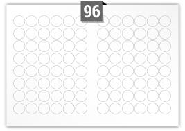 96 Circular Labels per SRA3 sheet