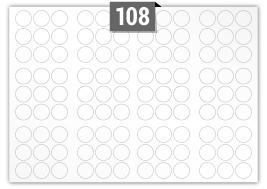 108 Circular Labels per SRA3 sheet