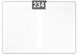 234 Circular Labels per SRA3 sheet