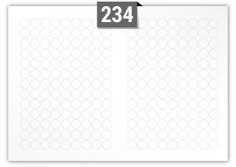 234 Circular Labels per SRA3 sheet