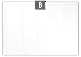 8 Rectangle Labels per SRA3 sheet