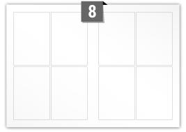8 étiquettes  rectangulaires par feuille -  94 mm x 140 mm