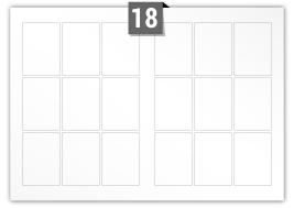 18 étiquettes  rectangulaires par feuille -  63 mm x 88 mm