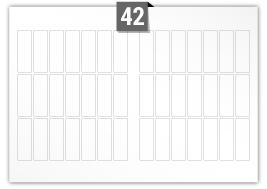 42 Rectangle Labels per SRA3 sheet