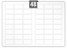 48 Rectangle Labels per SRA3 sheet - 62 mm x 33 mm