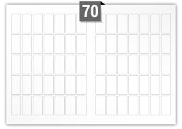 70 Rectangle Labels per SRA3 sheet - 25 mm x 51 mm