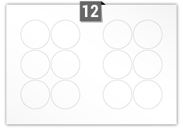 12 Circular Labels per SRA3 sheet