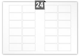24 étiquettes  rectangulaires par feuille -  80 mm x 45 mm