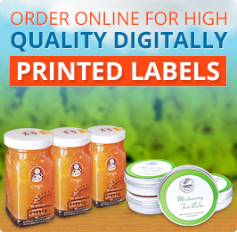 Printed labels banner