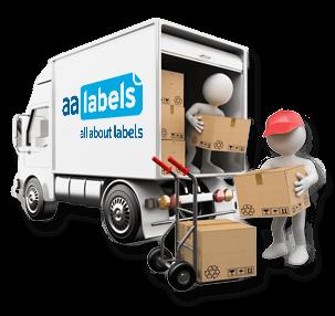 AA Labels Delivery Van
