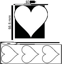 60 mm x 66.6 mm Étiquettes à rouleaux